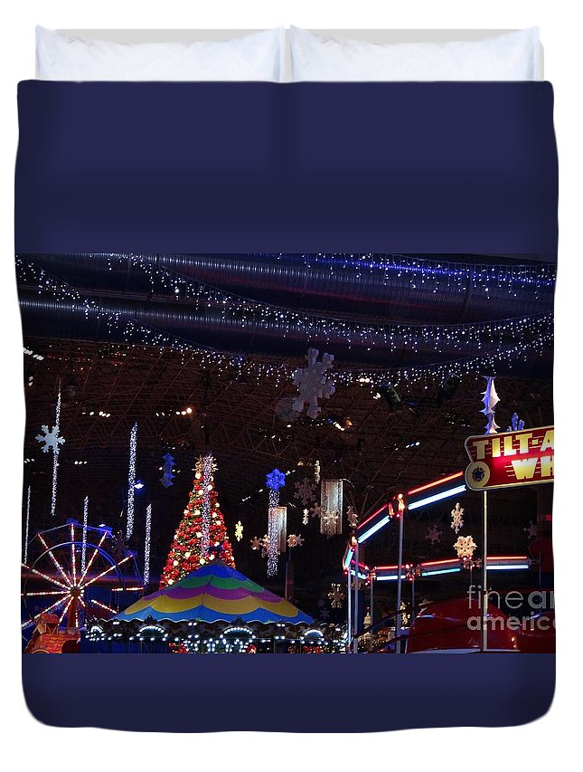 Carnival Duvet Cover featuring the photograph Winterfest Carnival 2013 by Teresa Hayes