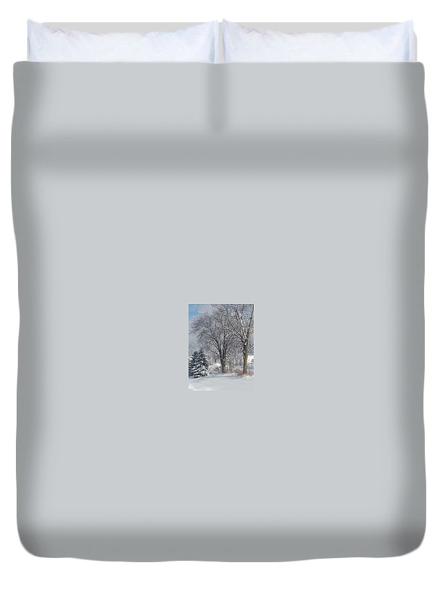 Winter Duvet Cover featuring the photograph Winter's Best by Timothy Porter