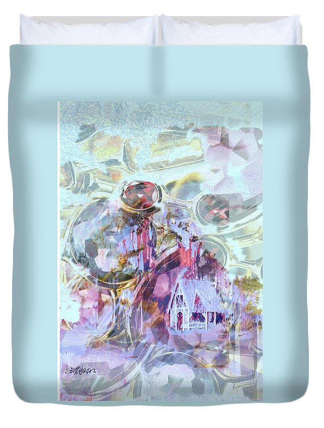 Winter Wind Duvet Cover featuring the digital art Winters Blast by Seth Weaver