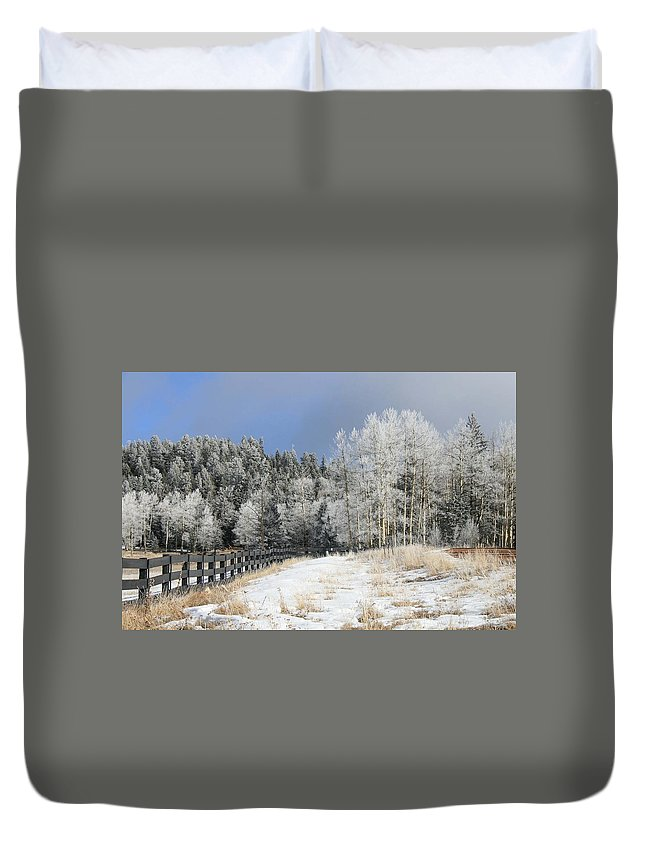 Winter Duvet Cover featuring the photograph Winters Day In The Mountains by Judithann O'Toole