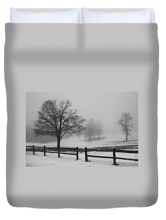 Nature Duvet Cover featuring the photograph Wintry Morning by Crystal Nederman