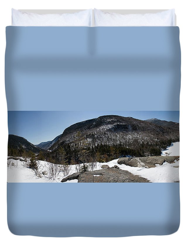 Winter Duvet Cover featuring the photograph Wintry Mountainscape 1 by David Goodwin