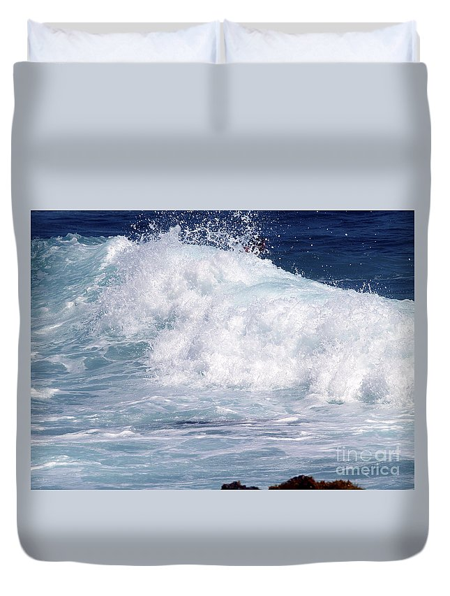 Fine Art Photography Duvet Cover featuring the photograph Wipe-out by Patricia Griffin Brett