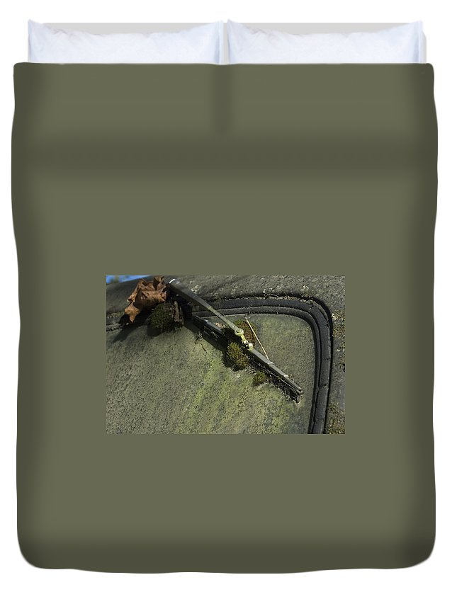 Wipe Duvet Cover featuring the photograph Wiped Out by Sara Stevenson