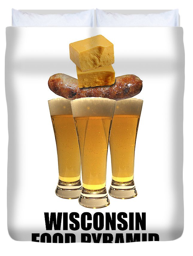 Wisconsin Duvet Cover featuring the photograph Wisconsin Food Pyramid by Tim Nyberg