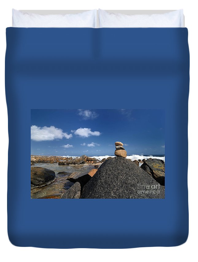 Aruba Duvet Cover featuring the photograph Wishing Rocks Aruba by Amy Cicconi
