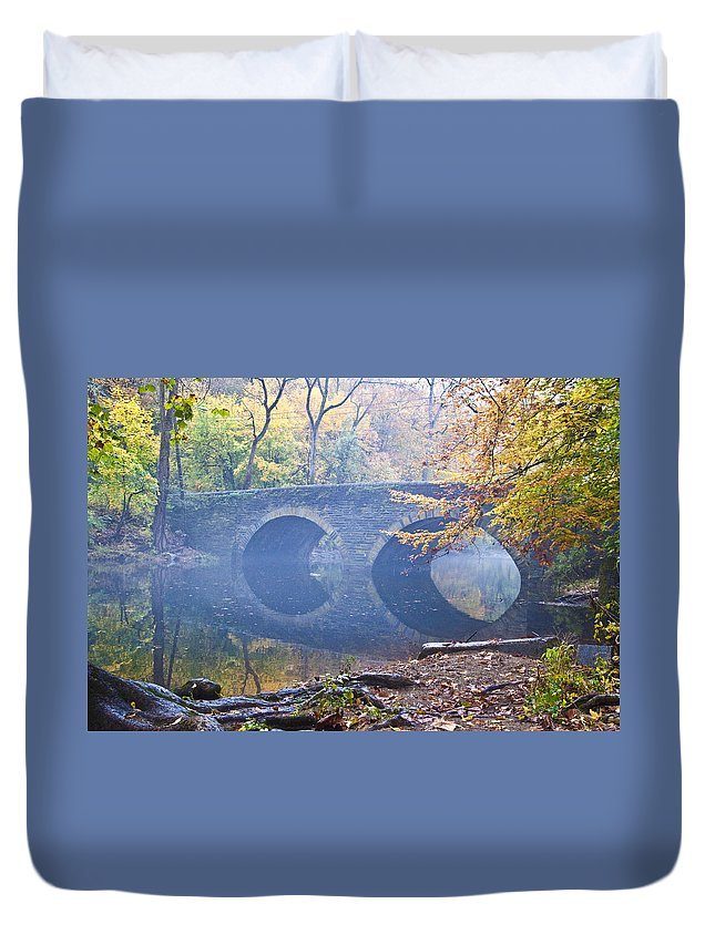 Wissahickon Duvet Cover featuring the photograph Wissahickon Creek At Bells Mill Rd. by Bill Cannon