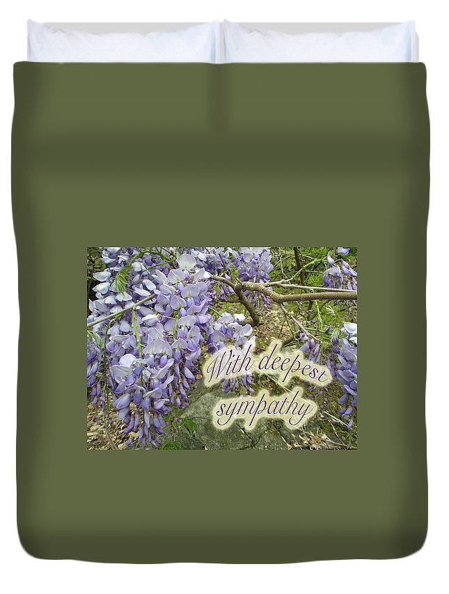 Wisteria Duvet Cover featuring the photograph Wisteria Sympathy Card by Mother Nature