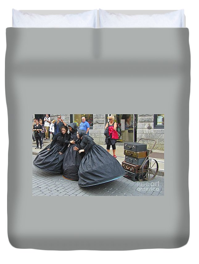 Portraits Duvet Cover featuring the photograph Witches Brewing by John Malone