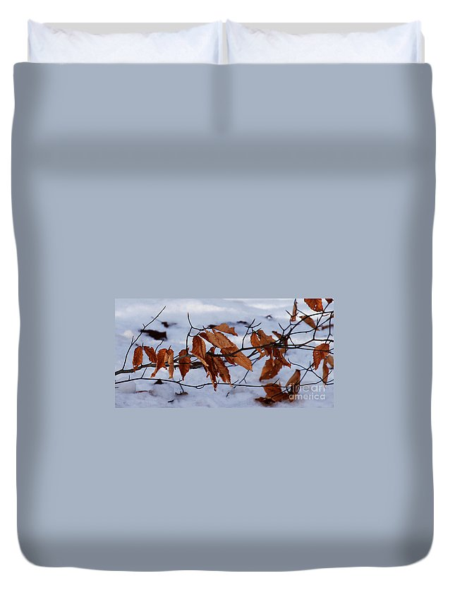 Autumn Duvet Cover featuring the photograph With Autumn's Passing by Linda Shafer
