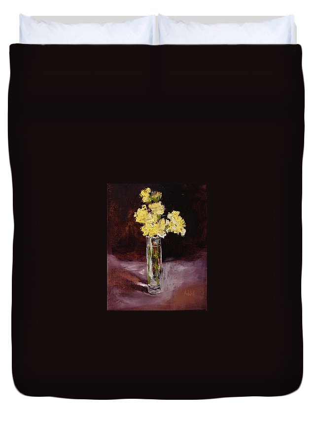Floral Duvet Cover featuring the painting With Love by Barbara Andolsek