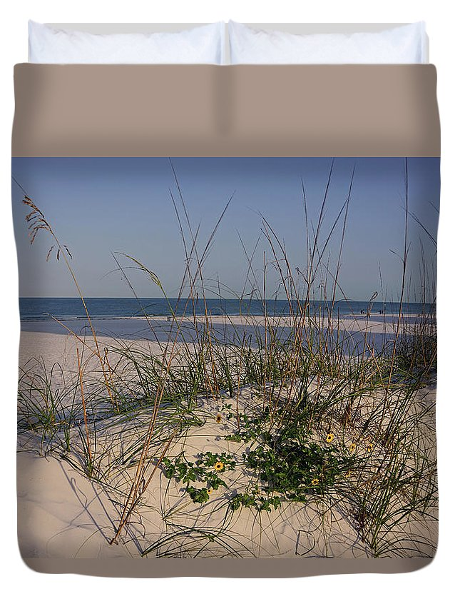 Clearwater Beach Dunes Duvet Cover featuring the photograph Withering Dunes by Ben Prepelka