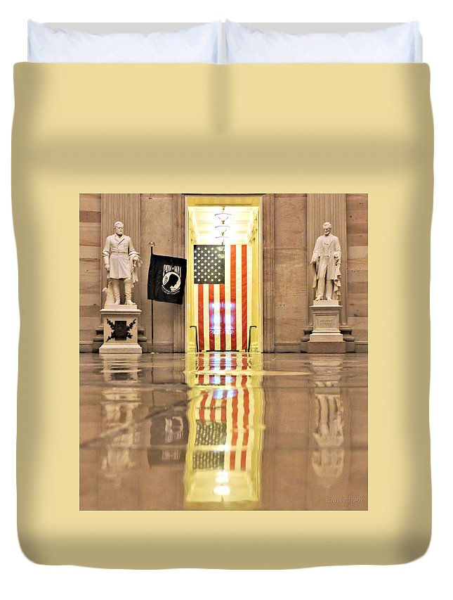 Washington Duvet Cover featuring the photograph Within Capitol Walls by Christopher Duncan