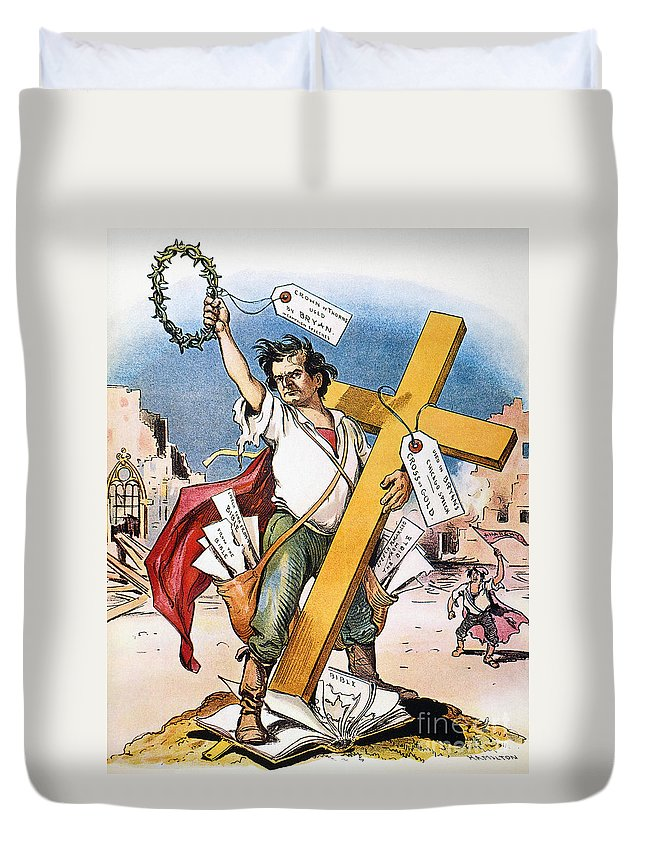 1896 Duvet Cover featuring the photograph W.j. Bryan: Cross Of Gold by Granger