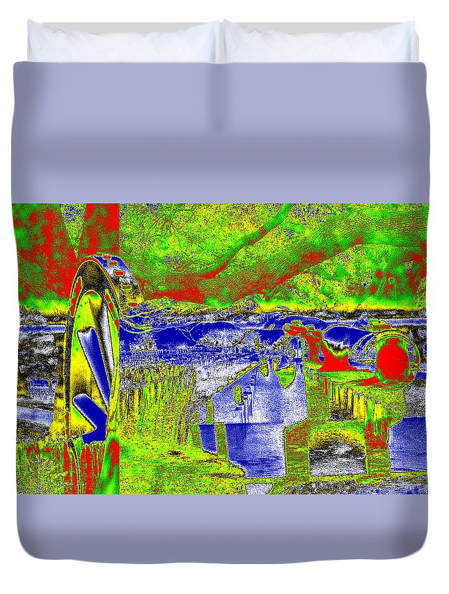Cannon Duvet Cover featuring the photograph Wmd2 by James Tannehill