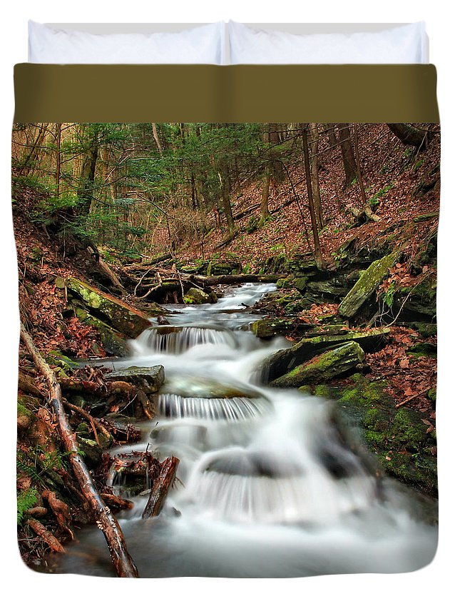Columbia Gorge Duvet Cover featuring the photograph Wolf Run 1 by Ingrid Smith-Johnsen