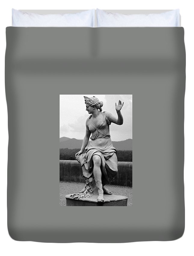 Figurative Duvet Cover featuring the photograph Woman Sculpture Nc by Eric Schiabor