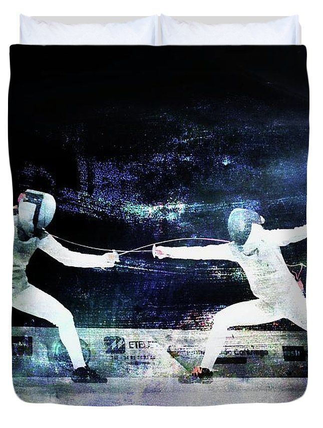France Duvet Cover featuring the photograph Women's Foil by Jean Francois Gil
