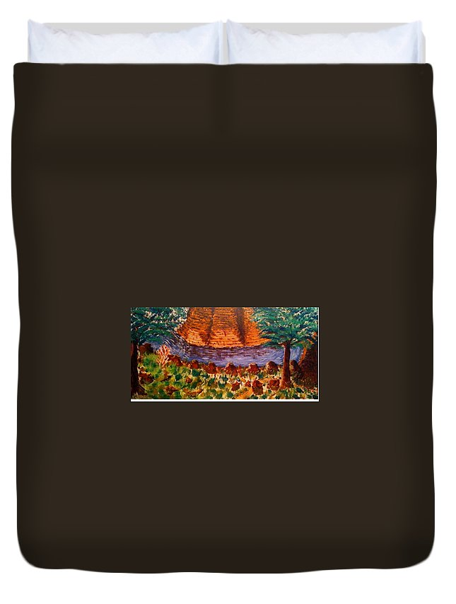 Nature Duvet Cover featuring the painting Wonder by R B