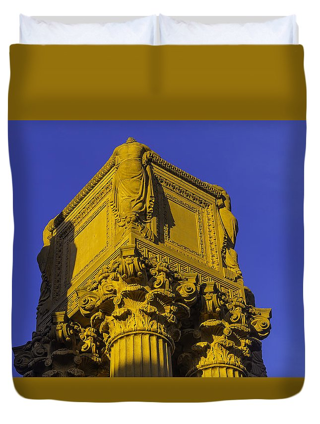 Palace Of Fine Arts Duvet Cover featuring the photograph Wonderful Palace Of Fine Arts by Garry Gay