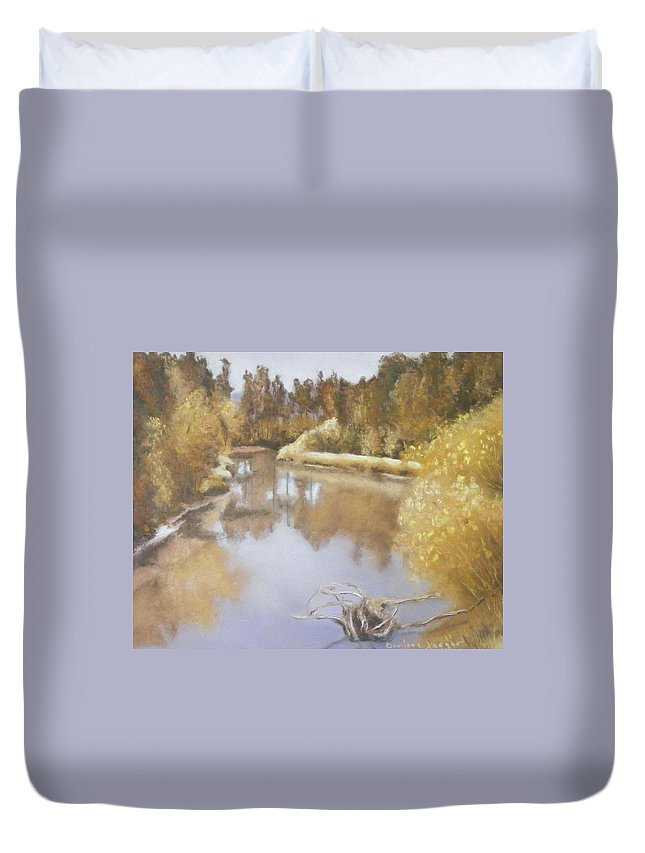 California Landscape Duvet Cover featuring the painting Wonderment by Darlene Jaeger
