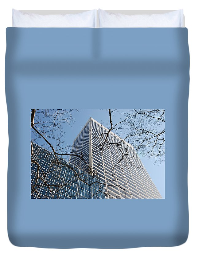 Architecture Duvet Cover featuring the photograph Wood And Glass by Rob Hans
