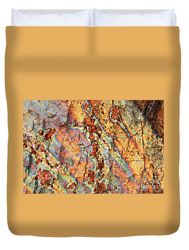Rust Duvet Cover featuring the photograph Wood And Rust by Carol Groenen