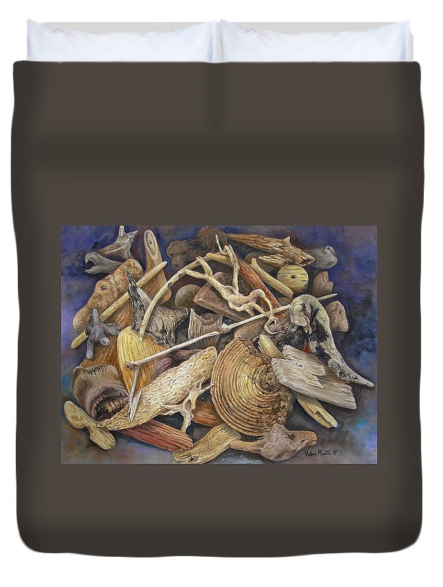 Driftwood Duvet Cover featuring the painting Wood Creatures by Valerie Meotti