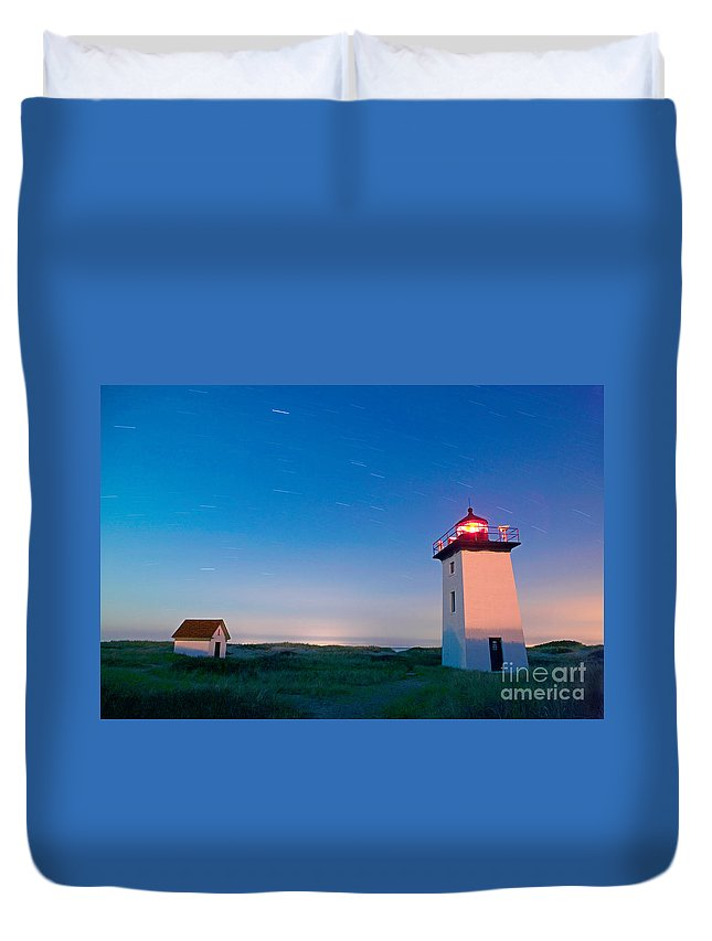 Wood End Lighthouse Duvet Cover featuring the photograph Wood End Lighthouse Provincetown Cape Cod by Matt Suess