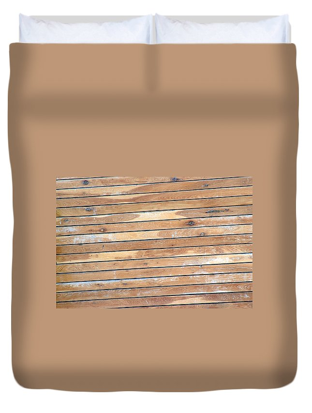 Wood Duvet Cover featuring the photograph Wood Lines by Cliff Norton