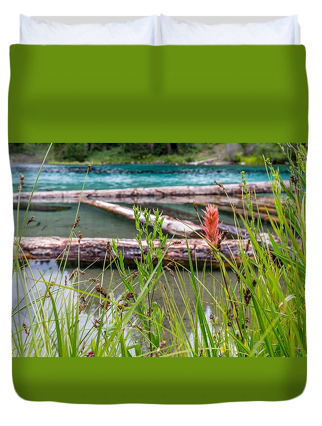 Oregon Duvet Cover featuring the photograph Wood River 07 by Michael Parks