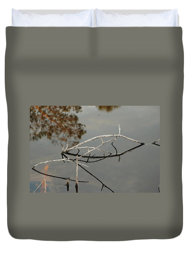 Pink Duvet Cover featuring the photograph Wooden Bridge In Color by Rob Hans