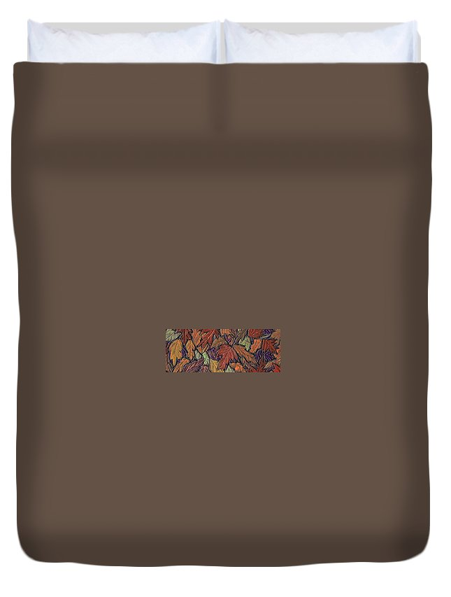Autumn Duvet Cover featuring the painting Woodland Carpet by Wayne Potrafka