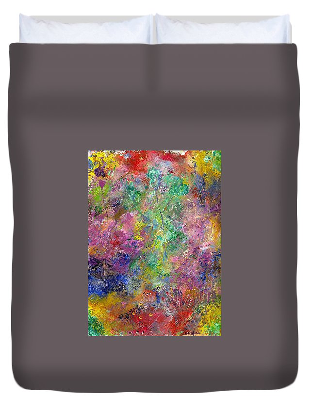 Woodland Duvet Cover featuring the painting Woodlands by Leigh Anna Kay