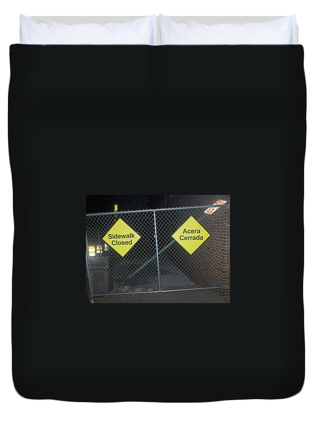 Photograph Duvet Cover featuring the photograph Work Ahead by Thomas Valentine