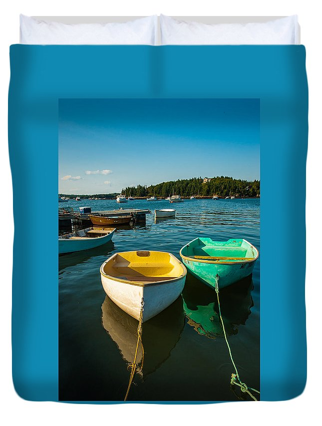 Ocean Duvet Cover featuring the photograph Work Tools by John Crookes
