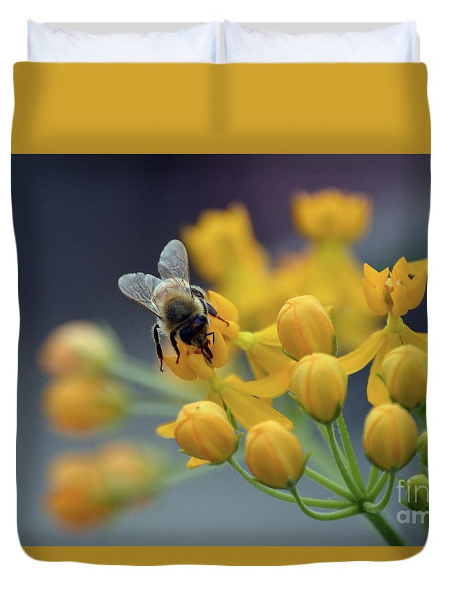 Duvet Cover featuring the photograph Working by Lenin Caraballo