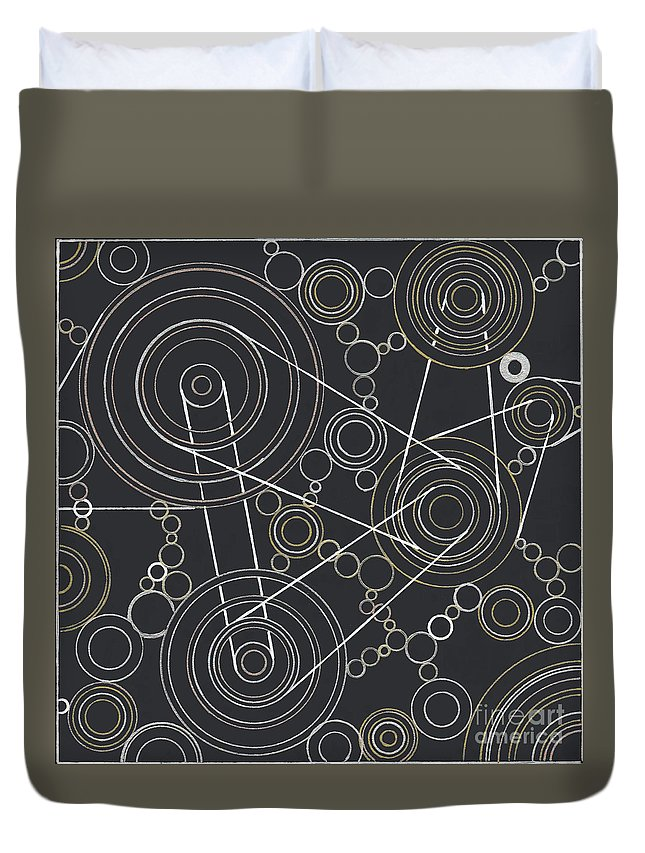 Motion Duvet Cover featuring the drawing World In Motion by Amy Nelson