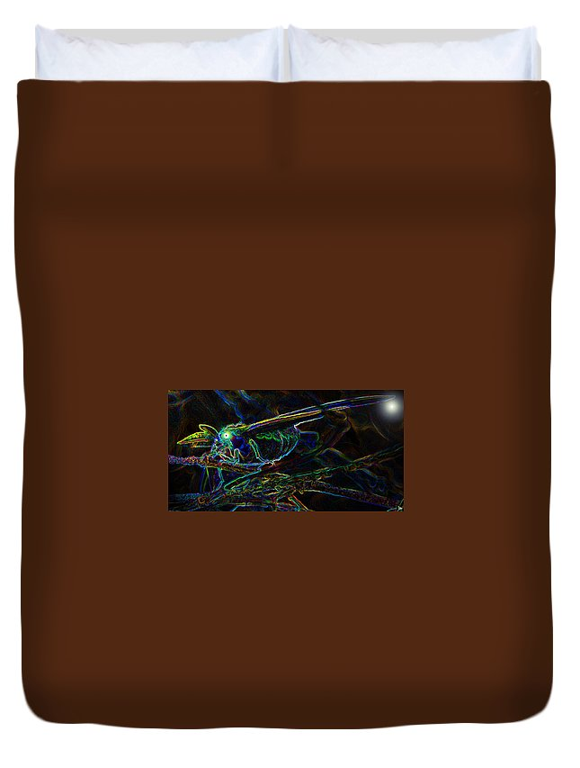 Luna Moth Duvet Cover featuring the photograph World Of The Luna Moth by David Lee Thompson