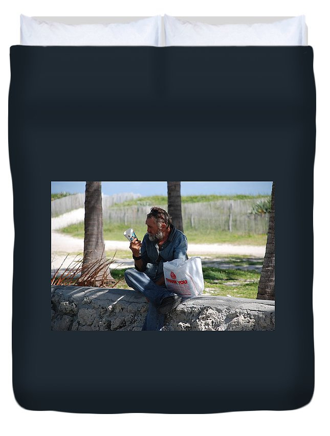 Man Duvet Cover featuring the photograph Worldly Posessions by Rob Hans