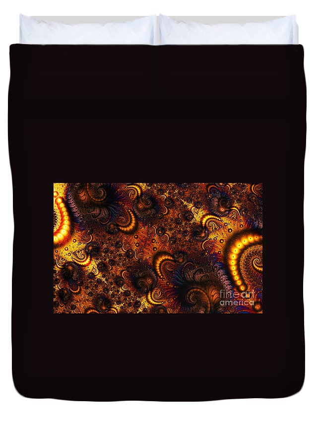 Clay Duvet Cover featuring the digital art Worm Infestation by Clayton Bruster