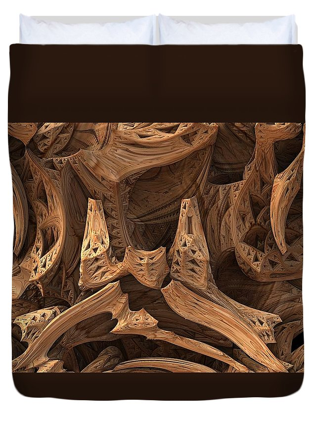 3d Duvet Cover featuring the digital art Wormwood by Lyle Hatch