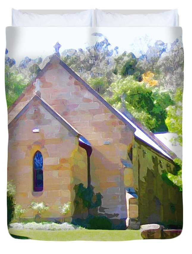 Worship Duvet Cover featuring the photograph Worship In Wollombi by Steve C Heckman