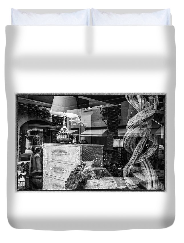 Florida Duvet Cover featuring the photograph Worth Ave Reflections 0510 by Bob Neiman