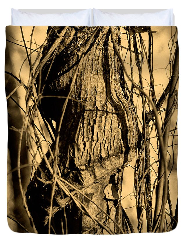 Tree Duvet Cover featuring the photograph Writhe Of My Soul by September Stone