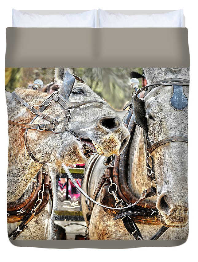 Zoo Duvet Cover featuring the photograph Wusup? by Rod Farrell