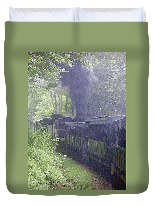 Wv Duvet Cover featuring the photograph Wv Passenger Car 16 by Cathy Lindsey