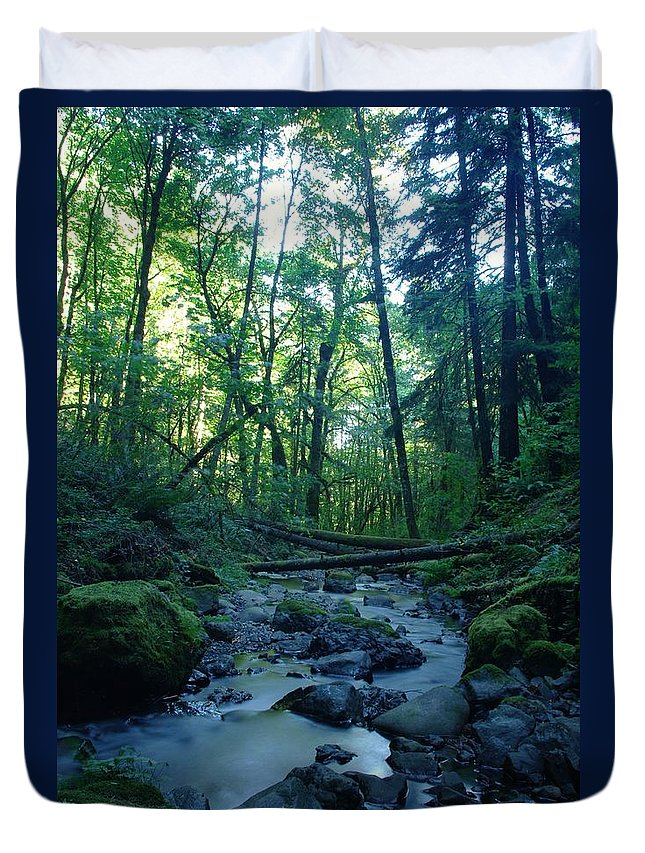 Water Duvet Cover featuring the photograph Wyeth Creek by Jeff Swan