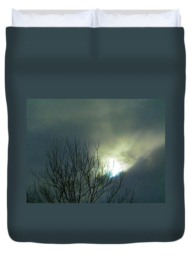 Abstract Duvet Cover featuring the photograph Wyoming Sky by Lenore Senior