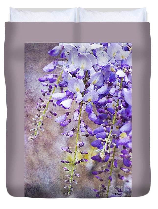 Wysteria Duvet Cover featuring the photograph Wysteria by Jim And Emily Bush